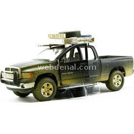 Maisto 2002 Dodge Ram Quad Cam 1:24 Dirt Riders Yeşil Arabalar