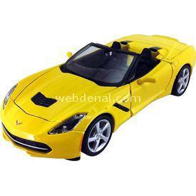 Maisto 2014 Corvette 1:24 Model Araba S/e Sarı Arabalar