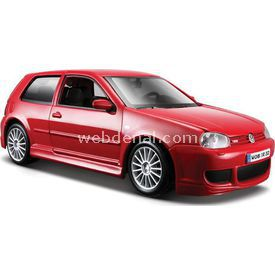 Maisto Wolsvagen Golf R32 1:24 Model Araba S/e Kırmızı Arabalar