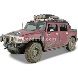 Maisto Hummer H2 Sut Concept 1:18 Model Araba Dirt Riders Kırmızı Arabalar