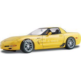 Maisto Chevrolet Corvette Z06 2001 1:18 Model Araba S/e Sarı Arabalar