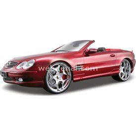 Maisto Mercedes Sl 55 Amg Convertible 1:18 Model Araba A/s Kırmızı Arabalar
