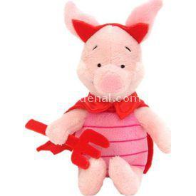 Necotoys Piglet Şeytan Kostümlü Peluş Oyuncak 26 Cm Peluş Oyuncaklar