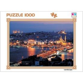 KS 1000 Parça  Adnan Sokol Galata'da Lacivert Puzzle