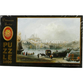 KS 1000 Parça  Yüzer Tahta Köprü Ve Süleymaniye Camii Puzzle