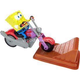 Jakks Pacific Sponge Bob Ve Motosiklet Oyun Seti Erkek Çocuk Oyuncakları