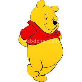 Necotoys Winnie The Pooh Eva Duvar Süsü Bebek Odası Aksesuarı