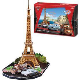 Cubic Fun 3d 48 Parça  Cars 2 Dünya Grand Prix Paris Puzzle