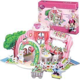 Cubic Fun 3d 73 Parça  Minnie'nin Çiçekci Dükkanı Puzzle