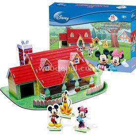 Cubic Fun 3d 43 Parça 3 Boyutlu  Mickey Mouse'un Evi Puzzle