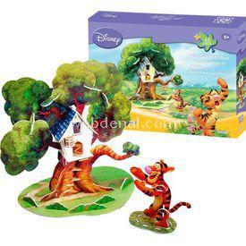 Cubic Fun 3d 46 Parça 3 Boyutlu  Tigger'ın Ağaç Evi Puzzle