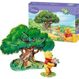 Cubic Fun 3d 42 Parça 3 Boyutlu Winnie The Pooh'un Ağaç Evi Puzzle