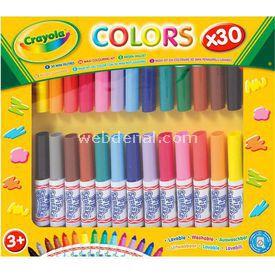 Crayola Mini Yıkanabilir Keçeli Kalem 30'lu Yardımcı Malzeme