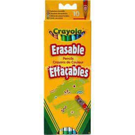 Crayola 10 Silinebilir Kuru Boya Kalemi Yardımcı Malzeme