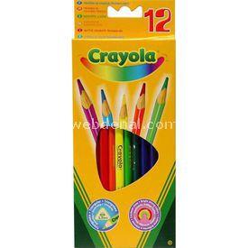 Crayola Kuru Boya Kalemi 12 Renk Yardımcı Malzeme