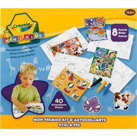 Crayola Ilk Sticker Ve Boyama Setim Eğitici Oyuncaklar
