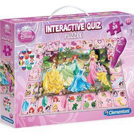 Clementoni Interactive Quiz  Yarışması Disney Prenses 35 Parça Puzzle