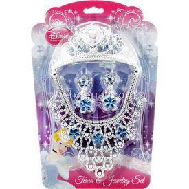 Necotoys Cinderella 4 Parça Taç Ve Takı Seti Kostüm & Aksesuar