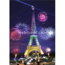 Anatolian 1000 Parça Neon  Eyfel Kulesi Puzzle