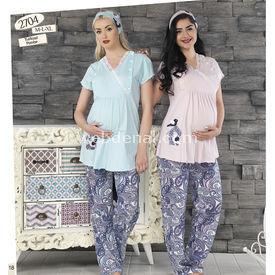 Haluk Baha Lohusa Pijama Takım Pembe L Gecelik & Pijama