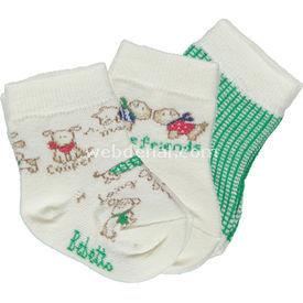 Bebetto S229 Dogs Bebek Çorabı Yeşil Kız Bebek Çamaşırı