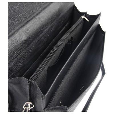 Liz y Suni Deri Üçgen Evrak Çantası Siyah Evrak & Seyahat Çantaları
