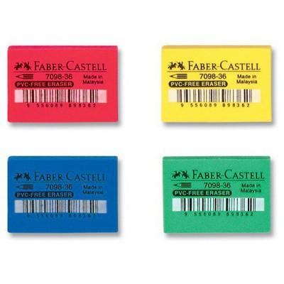 Faber Castell 7098-36 Pvc-free Renkli Silgi Silgiler