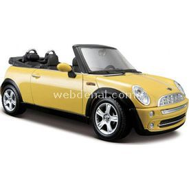 Maisto Mini Cooper Cabrio 2004 1:24 Model Araba S/e Sarı Arabalar