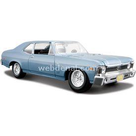 Maisto Chevrolet Nova Ss 1970 1:24 Model Araba S/e Mavi Arabalar