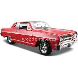 Maisto Chevrolet Malibu Ss 1965 1:24 Model Araba S/e Kırmızı Arabalar