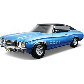 Maisto 1971 Chevrolet Chevelle Ss 454 1:18 Model Araba S/e Mavi Arabalar