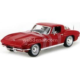 Maisto 1965 Chevrolet Corvette 1:18 Model Araba S/e Kırmızı Arabalar