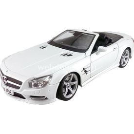 Maisto 2012 Mercedes-benz Sl 500 Convertible 1:18 Model Araba Beyaz Arabalar