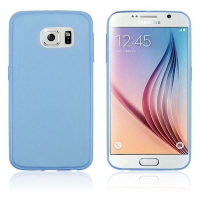 Microsonic Transparent Soft Samsung Galaxy S6 Kılıf Mavi Cep Telefonu Kılıfı