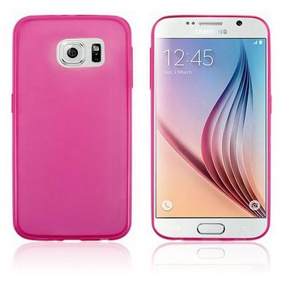 Microsonic Transparent Soft Samsung Galaxy S6 Kılıf Pembe Cep Telefonu Kılıfı