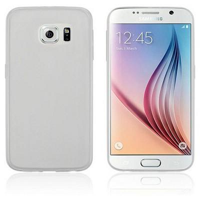 Microsonic Transparent Soft Samsung Galaxy S6 Kılıf Beyaz Cep Telefonu Kılıfı