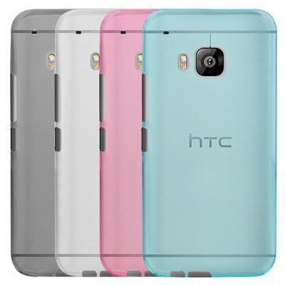 Microsonic Transparent Soft Htc One M9 Kılıf Mavi Cep Telefonu Kılıfı