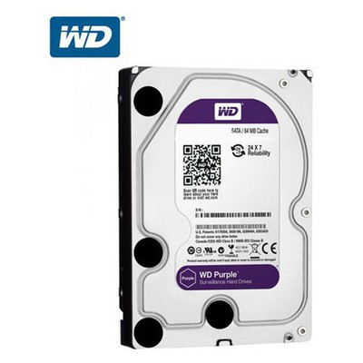 "WD 6 Tb Purple 3.5"" Intellıpower  Av-gp 64mb Sata Wd60purx Hard Disk"
