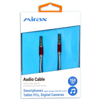 Mirax Ses transfer kablosu, (Apple, Samsung, Sony, HTC, LG)3.5mm to 3.5mm Ses ve Görüntü Kabloları