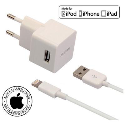 Mirax iPhone  6S/6SPlus/6/6Plus/5/5S/5C duvar şarj kiti, iPad&iPod uyumlu, Orijinal Apple Lisanslı Şarj Cihazları