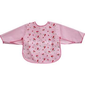 Sevi Bebe 530 Kollu Bebek Mama Önlüğü Pembe Bebek Besleme
