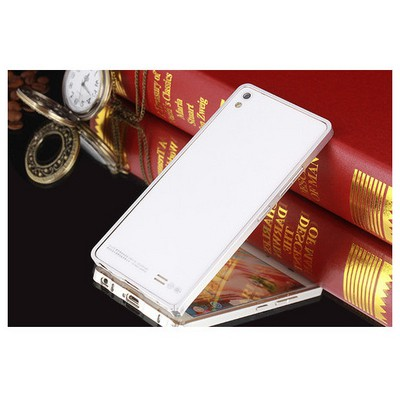 Microsonic General Mobile Discovery Air Thin Metal Çerçeve Kılıf Gümüş Cep Telefonu Kılıfı