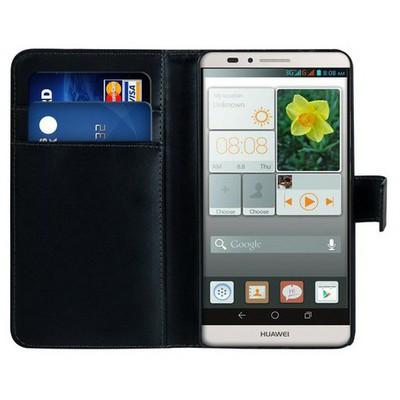 Microsonic Cüzdanlı Deri Huawei Ascend Mate 7 Kılıf Siyah Cep Telefonu Kılıfı