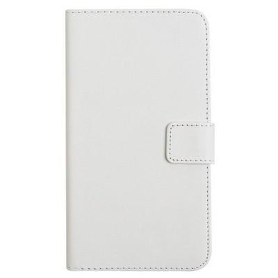 Microsonic Cüzdanlı Deri Samsung Galaxy E7 Kılıf Beyaz Cep Telefonu Kılıfı