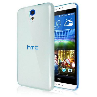 Microsonic Transparent Soft Htc Desire 620 Kılıf Mavi Cep Telefonu Kılıfı