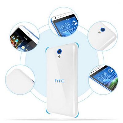 Microsonic Transparent Soft Htc Desire 620 Kılıf Siyah Cep Telefonu Kılıfı
