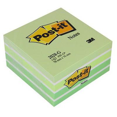Post-It 3m  76 X 76 Mm Yeşil Tonları 450 Yaprak (2028g) Not Kağıdı