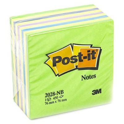 Post-It 3M  76 x 76 mm Yeşil Tonları 450 Yaprak (2028NB) Not Kağıdı