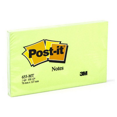 Post-It 3m  76 X 127 Mm Yeşil 100 Yaprak (655-mt) Not Kağıdı