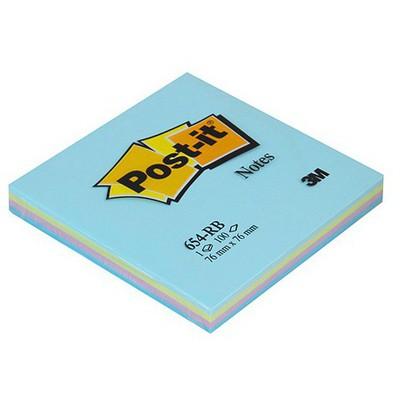 Post-It 3m  76 X 76 Mm Mavi Tonları 4 X 25 Yaprak (654-rbm) Not Kağıdı